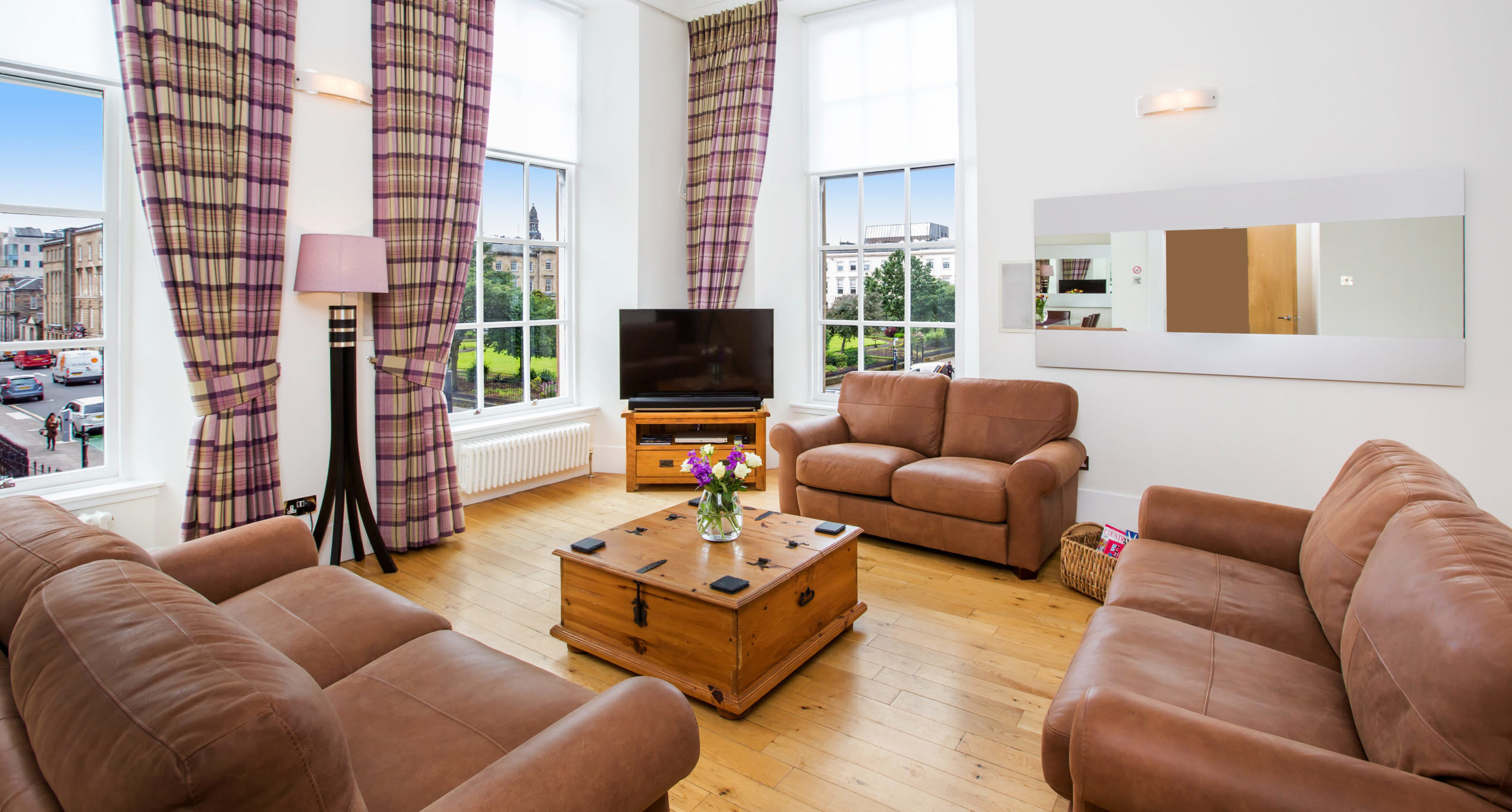 Blythswood Square Apartments Living Room
