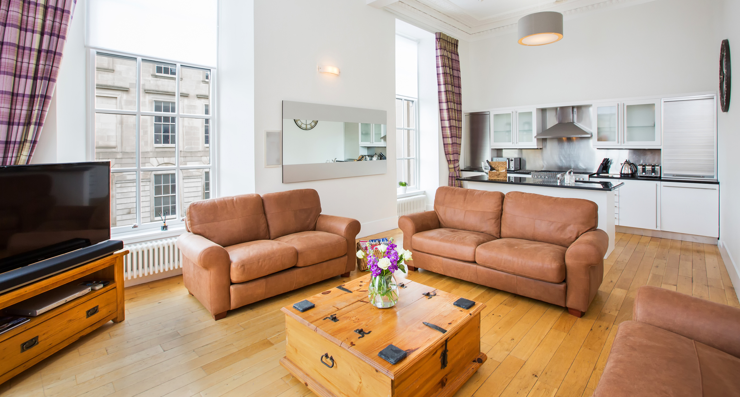 Blythswood Square Apartments - Living Room