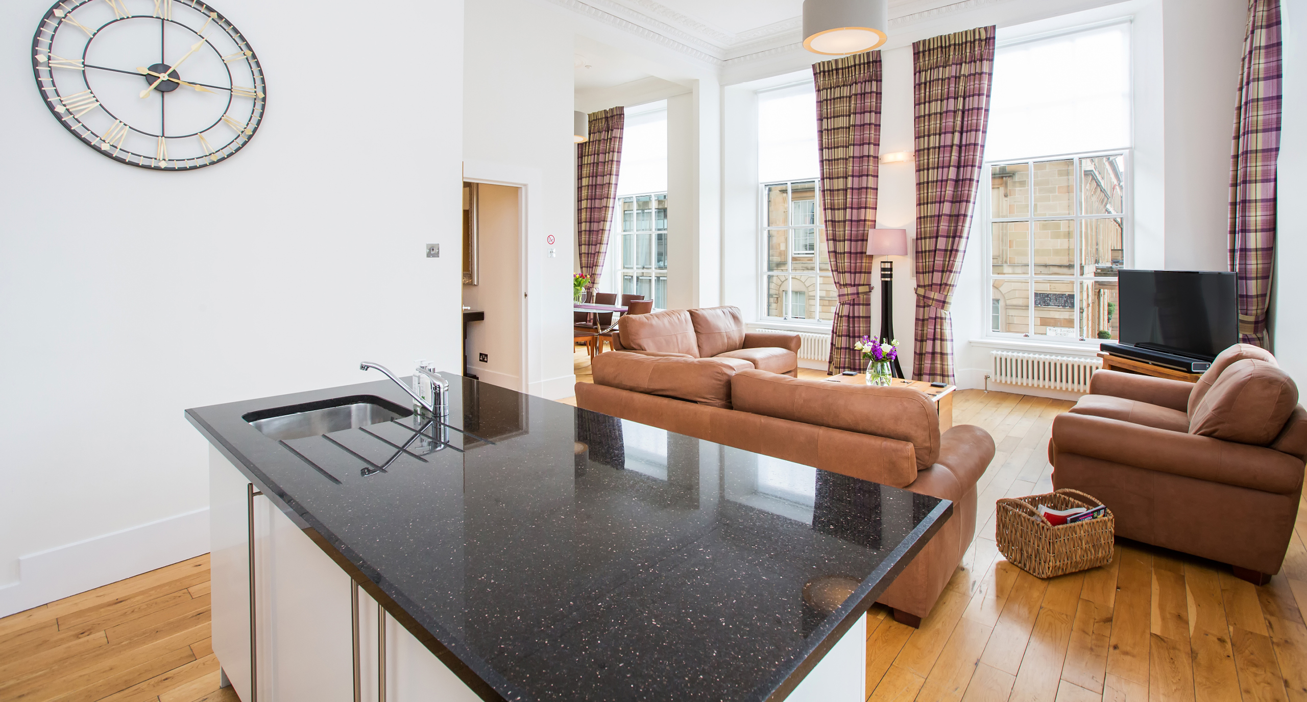 Blythswood Square Apartments Living Space